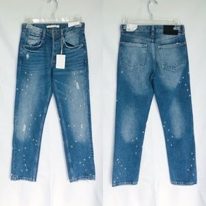 Zara NWT Constellation Studded Jeans